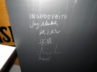 Autogramm von In Good Faith komplett